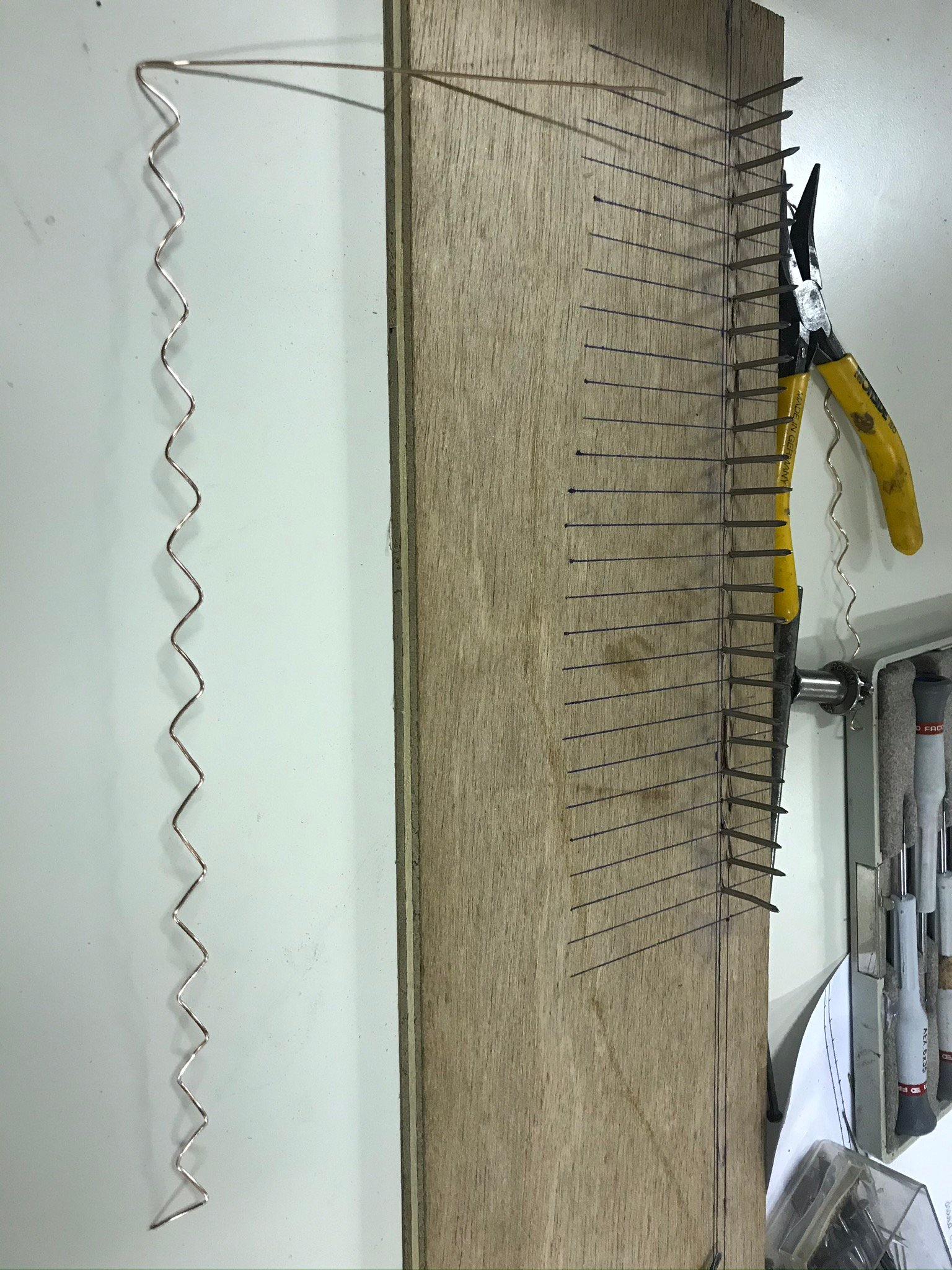 Bending the 0,8mm wire